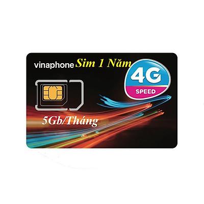 Sim 4G Vinaphone Vina 5GB/Tháng Trọn Gói 1 Năm Miễn Phí -Gói cước  D500 - Hàng Chính Hãng VinaPhone