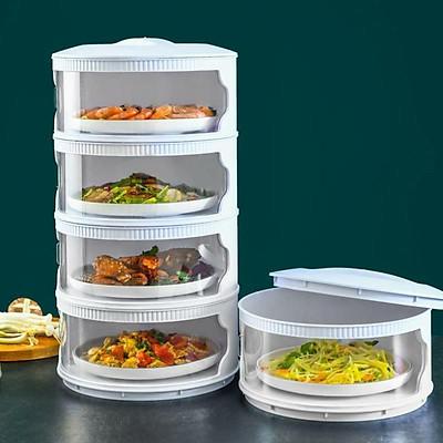 Lồng bàn giữ nhiệt đậy thức ăn 5 tầng mẫu mới 2021 (hàng có sẵn) HOT