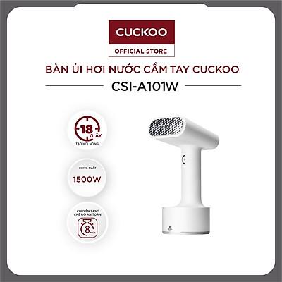 Bàn ủi hơi nước cầm tay Cuckoo CSI-A101 - 1500W khử khuẩn có đầu chải vải, trọng lượng siêu nhẹ - Hàng chính hãng