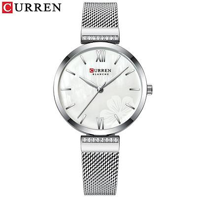Đồng hồ thời trang Curren dành cho nữ dây đeo tay bằng thép không gỉ