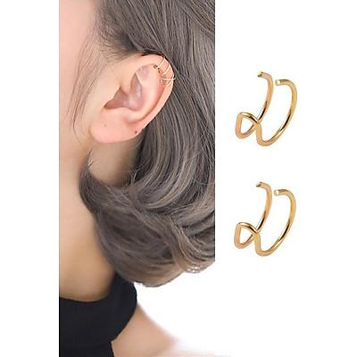 Bông tai cặp vành chữ U không cần bấm lỗ