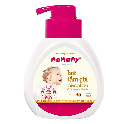 Bọt Tắm Gội (Sữa Tắm Gội) Thiên Nhiên Siêu Kháng Khuẩn An Toàn Cho Bé Mamamy Hương Fancy (400ml)