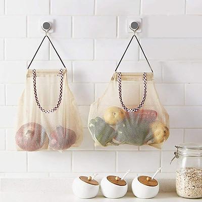 Túi Lưới Đa Năng Đựng Hành Tỏi Cho Nhà Bếp, Túi Lưới Đựng Rau Củ Quả Nhỏ Gọn - Không Chiếm Không Gian Làm Việc