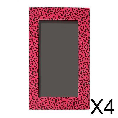 4xEmpty Magnetic Eyeshadow Palette Makeup Cosmetic DIY Palette Pink Leopard