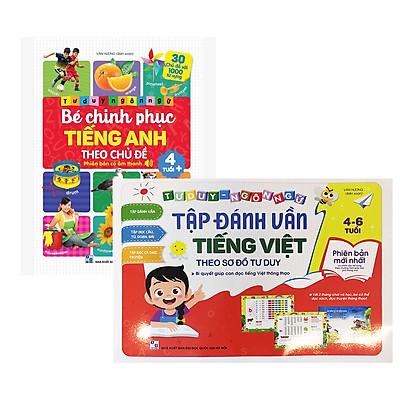Combo 2 Cuốn Tư Duy Ngôn Ngữ: Tập Đánh Vần Tiếng Việt Và Bé Chinh Phục Tiếng Anh
