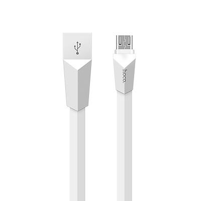 Cáp sạc (Micro USB) Hoco X4 hỗ trợ truyền dữ liệu, sạc nhanh 2.4A MAX, dây sạc dẹt chống rối tuyệt đối, được làm từ chất liệu ABS, TPE siêu bền, dành cho Samsung, Huawei, Xiaomi, Oppo, Sony, dài 120cm - Hàng chính hãng