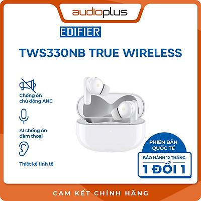 EDIFIER TWS330NB Tai nghe bluetooth chống ồn chủ động ANC - AI khử ồn đàm thoại - Game mode - Bản quốc tế - Hàng chính hãng