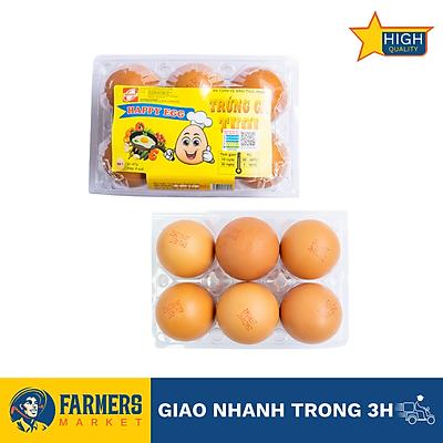 [Chỉ giao HCM] Trứng gà Happy EGG 61-67gr (6 quả)