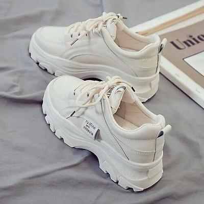 Giày sneakers thể thao nữ đế độn ulzzang full trắng (ảnh thật)