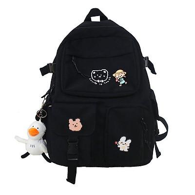 Balo nữ đi học thời trang hàn quốc, cặp học sinh cấp 3 2 túi kitty