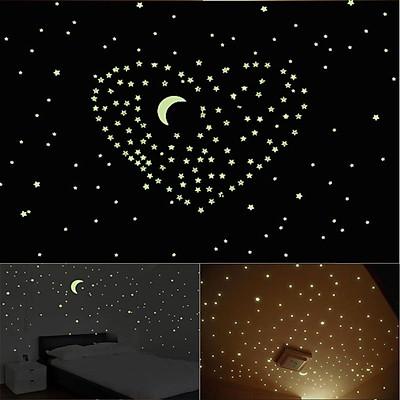 100 ngôi sao dán tường phát sáng trong đêm HPM100Star