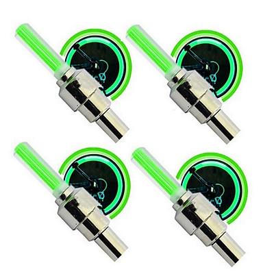 Bộ 4 Đèn LED gắn van đổi màu cho bánh xe máy ô tô TL 131-4B(Xanh lá)