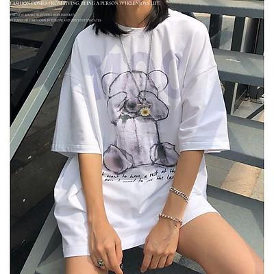 Áo thun, áo phông tay lỡ form rộng oversize anime GẤU MOC M498 DH NVH SHOP