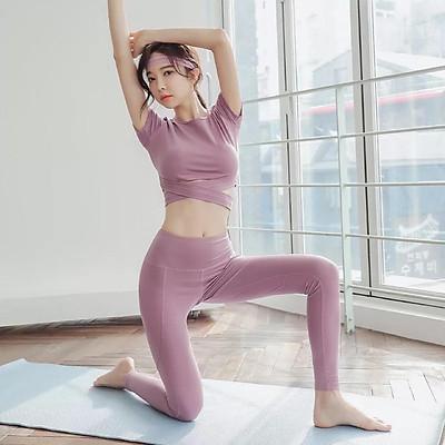 (SIÊU HOT)Bộ tập GYM dài tay quai chéo bụng sang chảnh - Bộ quần áo tập GYM-YOGA cao cấp hot nhất 2021