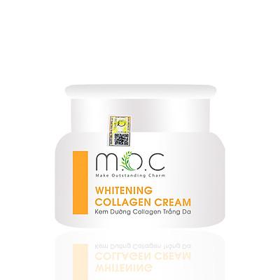 Kem Dưỡng Collagen Trắng Da M.O.C - Chiết xuất Hoa Nghệ Tây (Saffron) chống oxy hóa, nuôi dưỡng tế bào da, chống lão hóa, ngăn ngừa sạm nám, không bết rích, thông thoáng lỗ chân lông