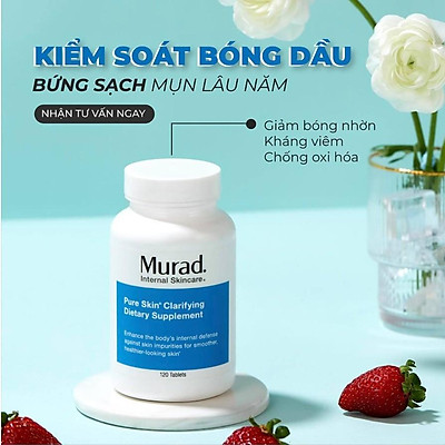 Viên giảm mụn Murad Pure Skin Clarifying Dietary Supplement 120 viên