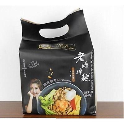 Mì Laoma Noodle sốt tiêu vừng Đài Loan (141g x 4 gói) - Thuần chay