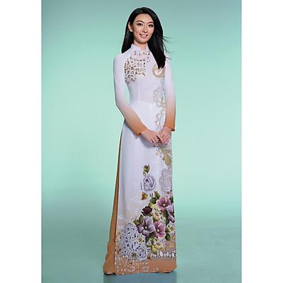Vải Áo Dài Thái Tuấn Hoa Văn In | ASBR533-237-CHL