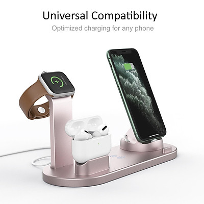 Wireless Charger 4-in-1 10W Fast Charging Stand for Apple Watch 5 4 3 Airpods Pro Station Dock For iPhone 11 XS XR X 8