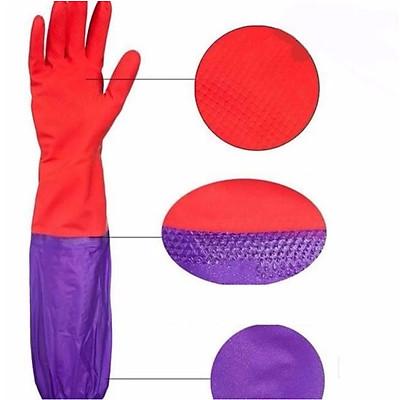 Găng tay cao su lót nỉ rửa bát