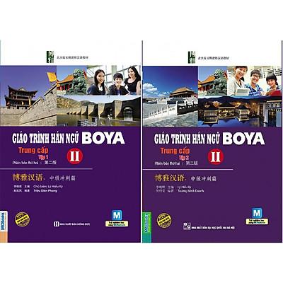 Combo 2 Cuốn Giáo Trình Hán Ngữ Boya Trung Cấp II (Tập 1 + tập 2) tặng kèm bookmark
