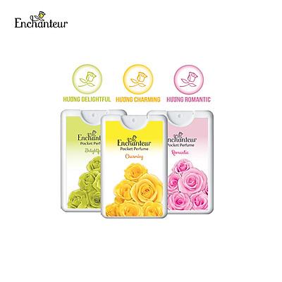 Combo 3 Nước hoa bỏ túi Enchanteur Charming, Delightful, Romantic 18ml/hộp