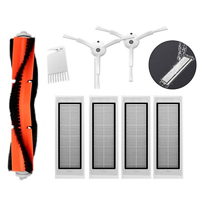 Robot Vacuum Cleaner Side / Rolling Brushes HEPA Filters Replacements For Xiaomi Roborock Mi Robot Vacuum Cleaner S50/S55