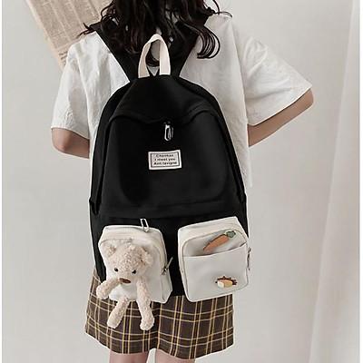 Balo nữ đi học giá rẻ thời trang cá tính cao cấp cute dễ thương LUKAMO BL131