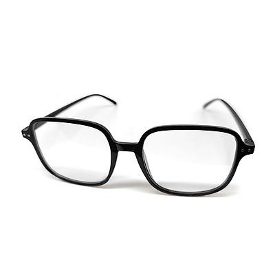 Mắt kính thời trang chống bụi gọng nhựa vuông K017 unisex nam nữ style giả cận, phong cách tri thức, lịch sự