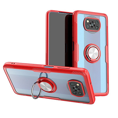 Ốp lưng cho Xiaomi Poco X3 NFC Trong Suốt Chống Sốc iRing Viền Màu