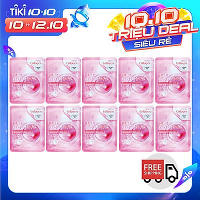 [mẫu mới] Combo 10 Gói Mặt Nạ Dưỡng Ẩm Da Chiết Xuất Collagen 3w Clinic Fresh Collagen Mask Sheet 100% Cotton (23ml/Miếng)