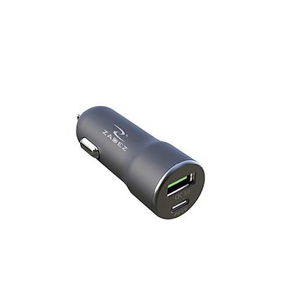 Củ sạc xe hơi nhanh 2 cổng USB QC 3.0 và Type C PD Zadez 36W ZCA-4831 - Hàng Chính Hãng