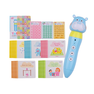iQ House Cartoon Audio Pen Set Intelligent Reading Pen Early Education with 25pcs Vocabulary Book Support