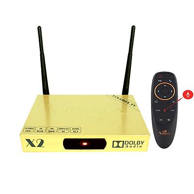 Combo android tv box Vinabox X2 2019 và Điều khiển giọng nói - Hàng Chính Hãng