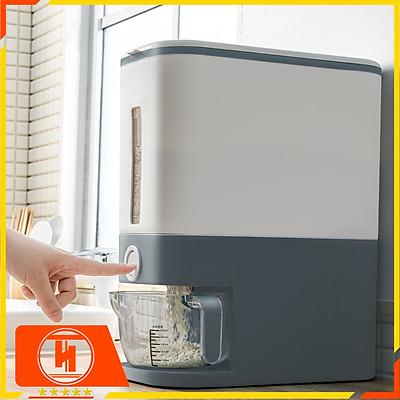 Thùng đựng gạo thông minh 12kg HT SYS, thiết kế dạng nhấn nút, chất liệu ABS cao cấp