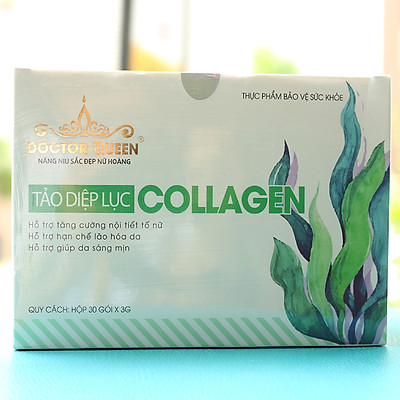 Tảo diệp lục Collagen Doctor Queen 30 gói/hộp