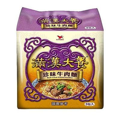 Mì ăn liền thịt bò trân châu Đài Loan Man Han Feast (3 gói)