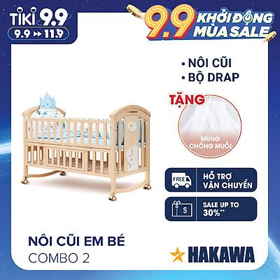 NÔI CŨI, GIƯỜNG CŨI CAO CẤP ĐA NĂNG CHO BÉ HAKAWA HK-B03 (COMBO 2) - HÀNG CHÍNH HÃNG