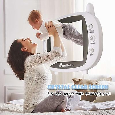 Máy Báo Khóc Baby Monitor màn hình Full HD 3,5inh – mbk05, không dây, tần số sóng 2.4G