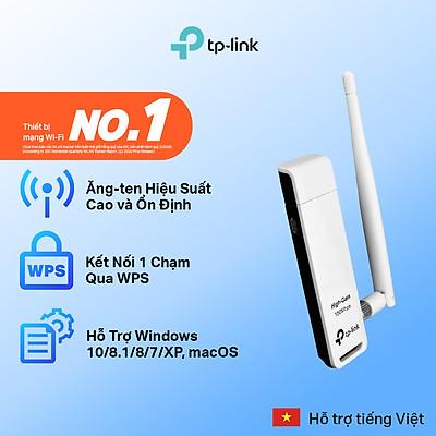 Bộ Thu Wifi USB TP-Link TL-WN722N Chuẩn N 150Mbps - Hàng Chính Hãng