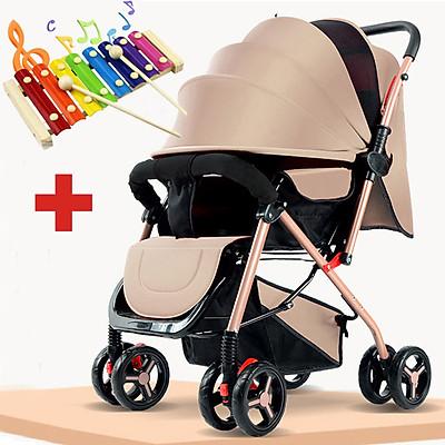 Xe đẩy 2 chiều gấp gọn, xe đẩy giá rẻ, xe đẩy cho bé HT 105 - 2 chiều 3 tư thế đa năng kiểu dáng sang trọng, dễ dàng mang theo ( TẶNG KÈM BỘ ĐỒ CHƠI XÚC XẮC ĐÁNG YÊU CHO BÉ ) - xe đẩy du lịch, xe đẩy gấp gọn, xe đẩy cho bé, xe đẩy em bé