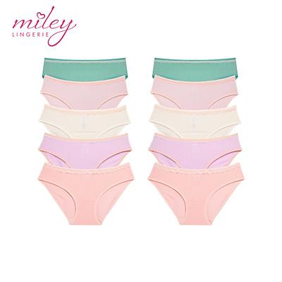 Bộ 10 Quần Lót Nữ Thun Lạnh Fashion Miley Lingerie - BMS_01 - Giao Màu Ngẫu Nhiên