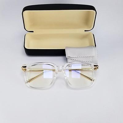 Mắt kính giả cận tròng 0 độ cho nam và nữ DKYGCGV gọng kim loại