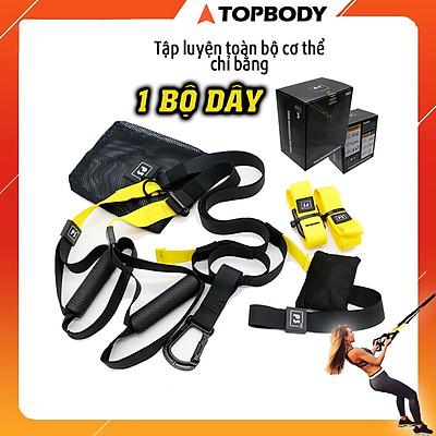 Dây kháng lực tập gym TRX P3, dây treo đàn hồi đa năng tập Gym chính hãng TOPBODY