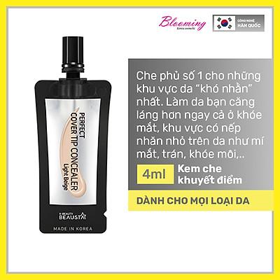 Kem che khuyết điểm, độ chống nắng SPF 25 Beausta Perfect Cover Tip Concealer -Light Beige 4ml