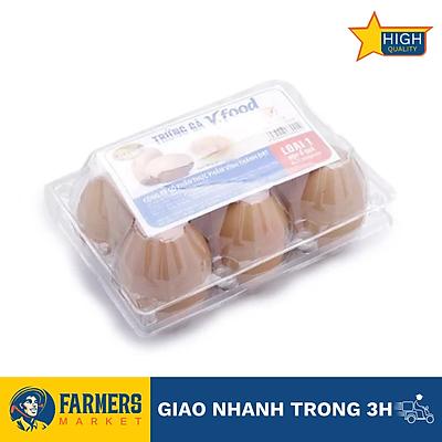 [Chỉ giao HCM] Trứng gà Vĩnh Thành Đạt 60gr (6 quả/hộp)
