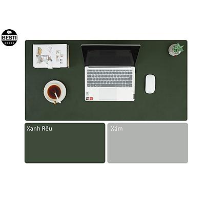 Tấm Lót Chuột, Miếng Di Chuột 90 X 45 CM Kiêm Deskpad Thảm Da Trải Bàn Làm Việc Hai Mặt - Hàng Chính Hãng