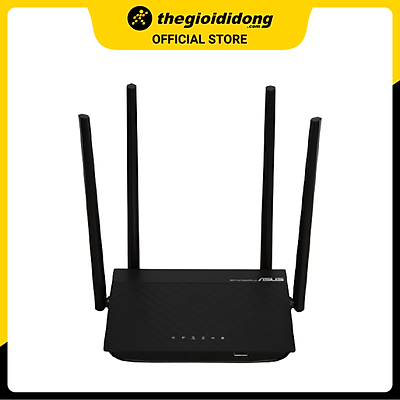 Bộ Phát Sóng Wifi Router Chuẩn AC1300UHP Băng Tần Kép Asus AC1300 Đen - Hàng chính hãng
