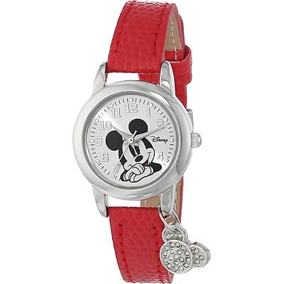 Đồng hồ nữ dây đeo đỏ Disney MK1042 Mickey Mouse Watch