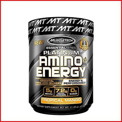 Thực phẩm bổ sung EAA MuscleTech Platinum Amino Energy - 30 lần dùng – Hỗ trợ tăng năng lượng, phục hồi và phát triển cơ bắp cho người tập luyện thể hình và thể thao – Thương hiệu MuscleTech USA - Nhập khẩu chính hãng